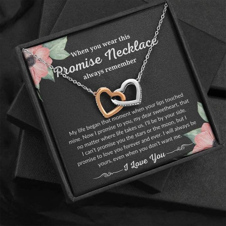 Promise Necklace For Her From Boyfriend, Promise Necklace For Girlfriend, Anniversary, Birthday Gift, Boyfriend To Girlfriend Necklace Gift by DevinegiftsDesigns on Etsy