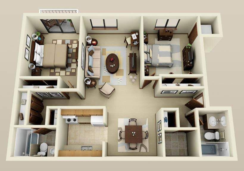 Top 10 Best Amazing 3d Floor Plan Designs Condo Floor Plans Floor Plan Design Apartment For Rent Nyc