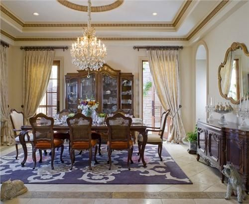 Formal Traditional Dining Room by Lori Dennis on HomePortfolio ...