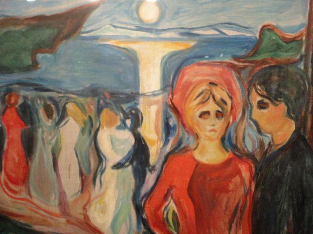 Yksityiskohta maalauksesta Elämän tanssi (1921), Edvard Munch