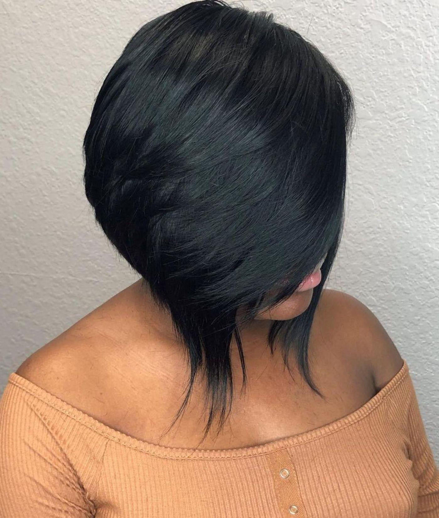 60 Showiest Bob Haircuts For Black Women Bob Hairstyles Angled Bob Hairstyles Bobs Haircuts