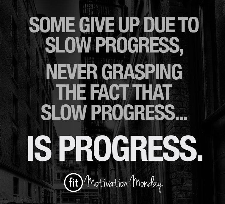 Fitness quotes  inspiration - PROGRESS Don\u0027t ever give up