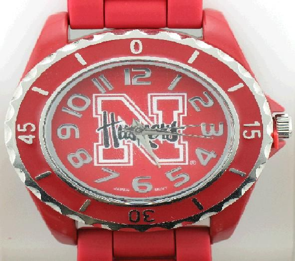 University of Nebraska watch with Red bezel www.sartorhamann.com