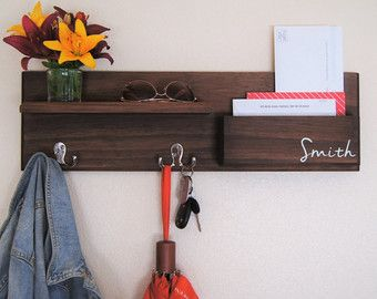 Personalized Coat Rack Storage Entryway Coat By MidnightWoodworks