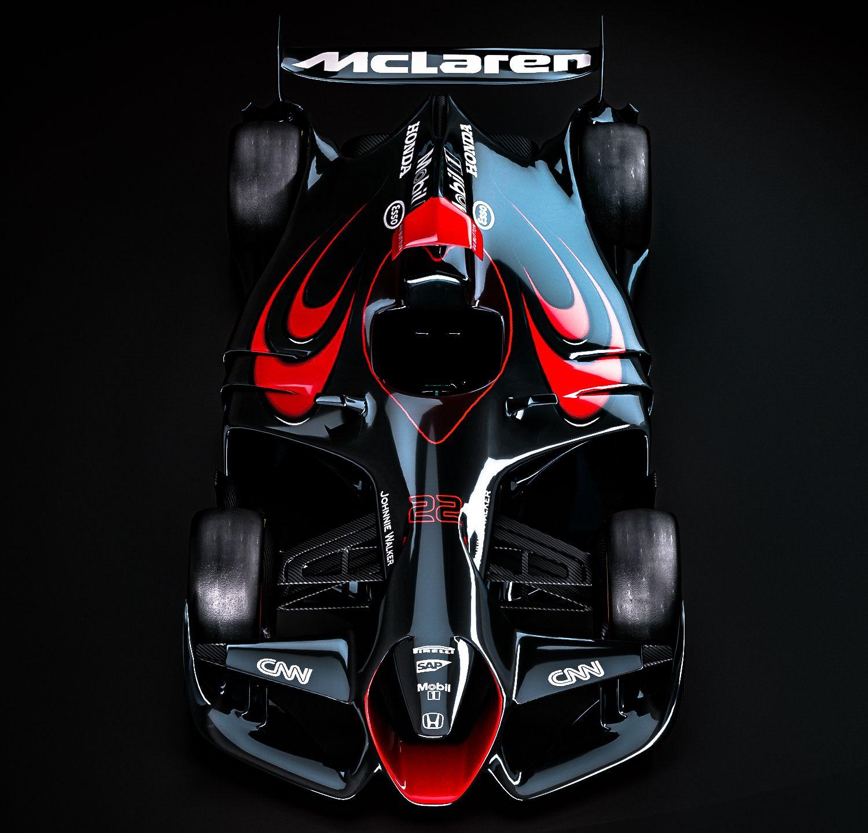 McLaren Honda livery (Button)Ferrari F1 Concept by
