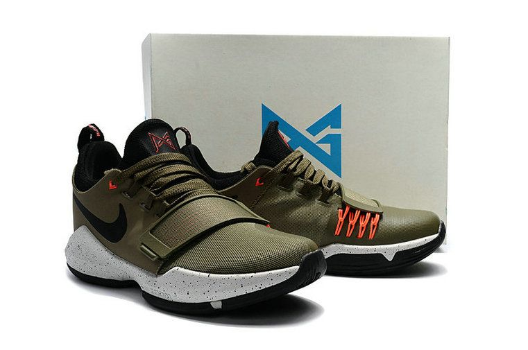 san francisco 2ae8b b41dd Latest and Newest Young Big Boys Nike PG 1 Undefeated Olive Orange Black