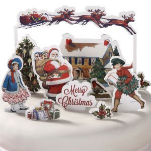 Jolly Holly Christmas Cake Toppers - www.littlecupcakeboxes.co.uk http://www.pinterest.com/noonoo1975/christmas-thanksgiving-and-easter/