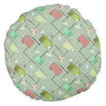 Baby Boomerangs in Green Round Pillow | Zazzle.com Baby Boomerangs in Green Rou Baby