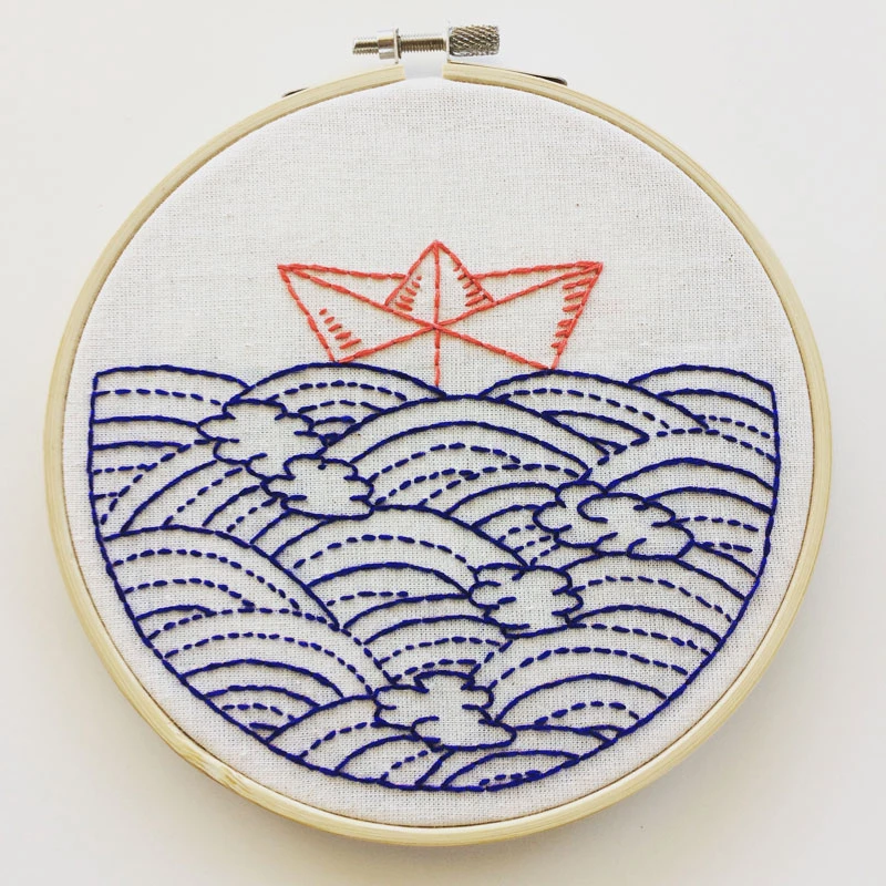 Hope Floats My Boat Hand Embroidery Kit