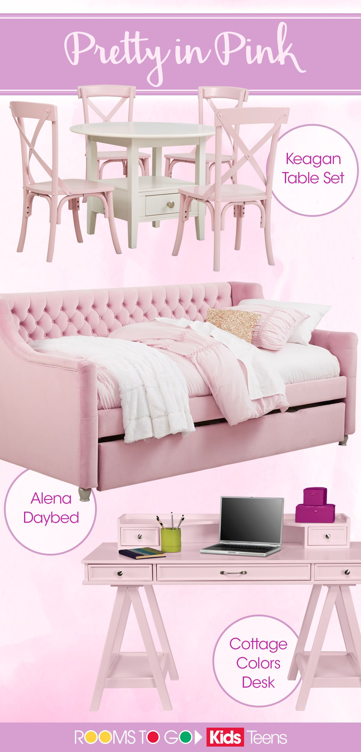 Pretty In Pink Decorate Your Little Girl S Room In Style With These Amazing Pieces Ranging Girls Bedroom Furniture Girls Room Design Bedroom Furniture Stores