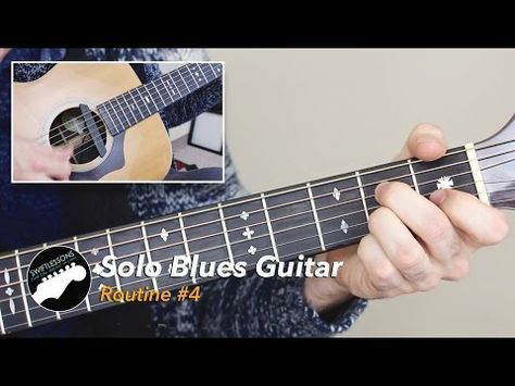 Solo Blues Guitar Lesson Common Chords Licks And Turnarounds Routine 4 Youtube Blues Guitar Lessons Blues Guitar Guitar