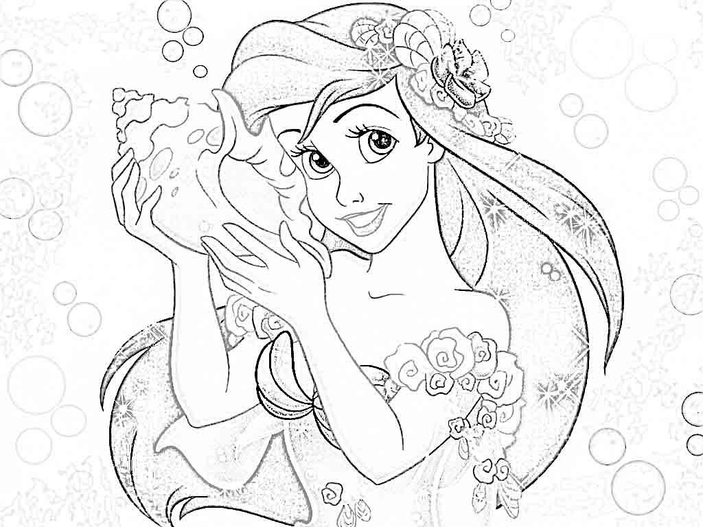 Disney Princess Coloring Pages Ariel - Colorine.net | #20276 | Body ...