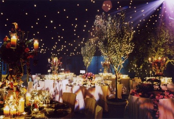 Beautiful Starry Night In The Forest Prom Decor Starry Night Wedding Enchanted Forest Prom