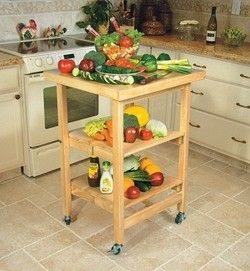 Kitchen Carts Kitchen Folding Carts Kk 3005a4 Natural And Walnut Finish By Oasis Kitchensource Com บ านล งไม งานไม