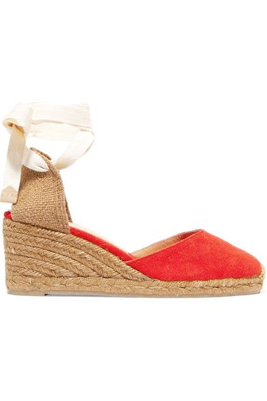 20c5586496b Wedge heel measures approximately 60mm/ 2.5 inches Tomato-red and ...