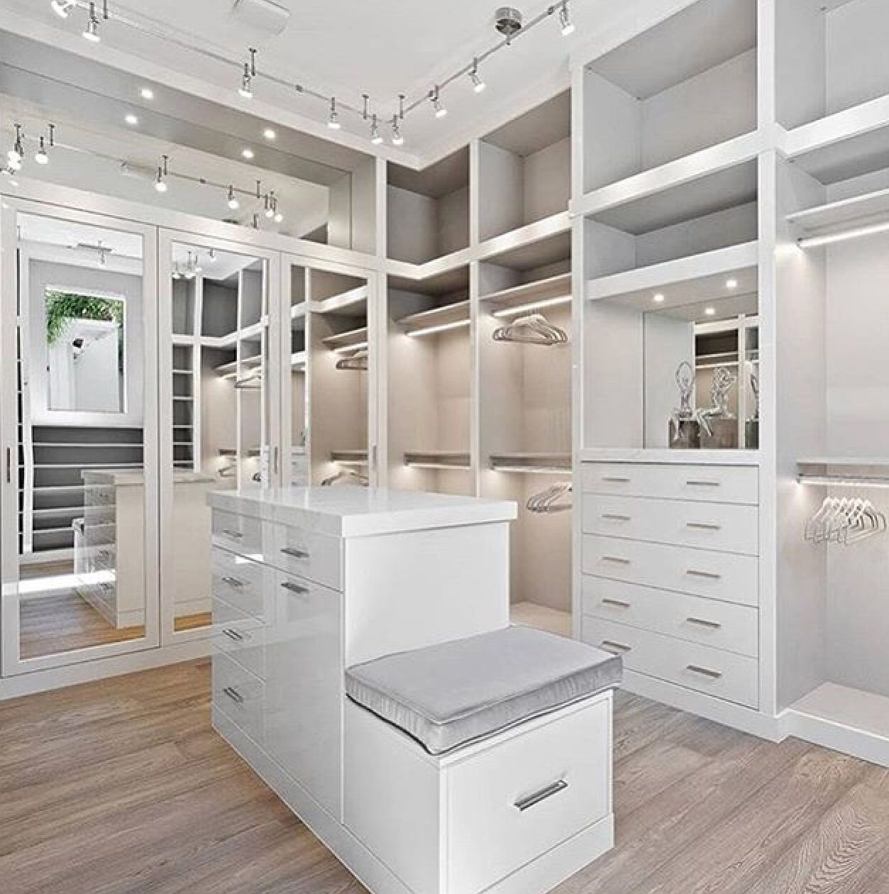 Just A Clean Nice Elegant Walking Closet Master Closet Design