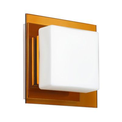 Besa Lighting Alex 1 Light Mini Wall Sconce Finish: Armagnac