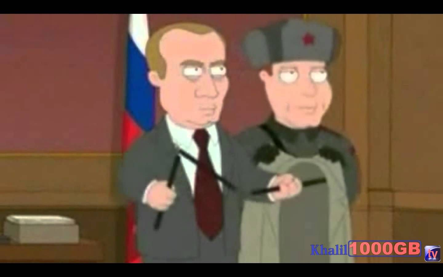 Vladimir Putin In Family Guy Russian Reacting Family Guy Funny Cartoon Gifs Family Guy Videos
