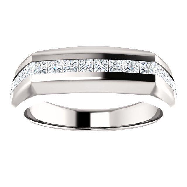 10kt White Gold 2mm 22 Accent Diamonds Stone Square Men S Ring St9815 357 P Price 1199 99 Diamonds Gold Ring Mensring Whitegold