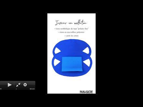 MASK+++ NO SEWING+++ DIY masque SANS COUTURE pour une utilisation optimale!
