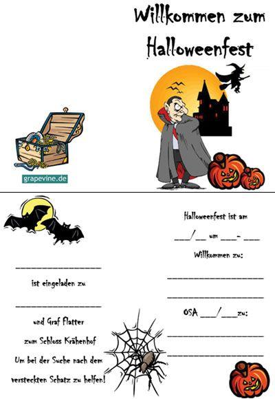Auch Zum #Halloween Motto Gibt Es Eine #Einladungskarte Von #grapevine.de