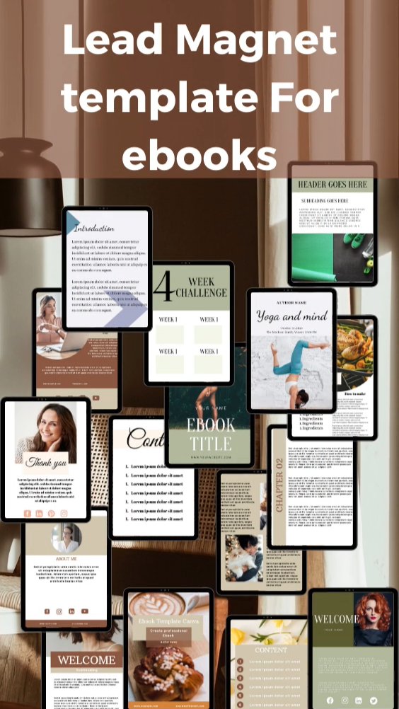 Exclusive lead magnet for ebook template
