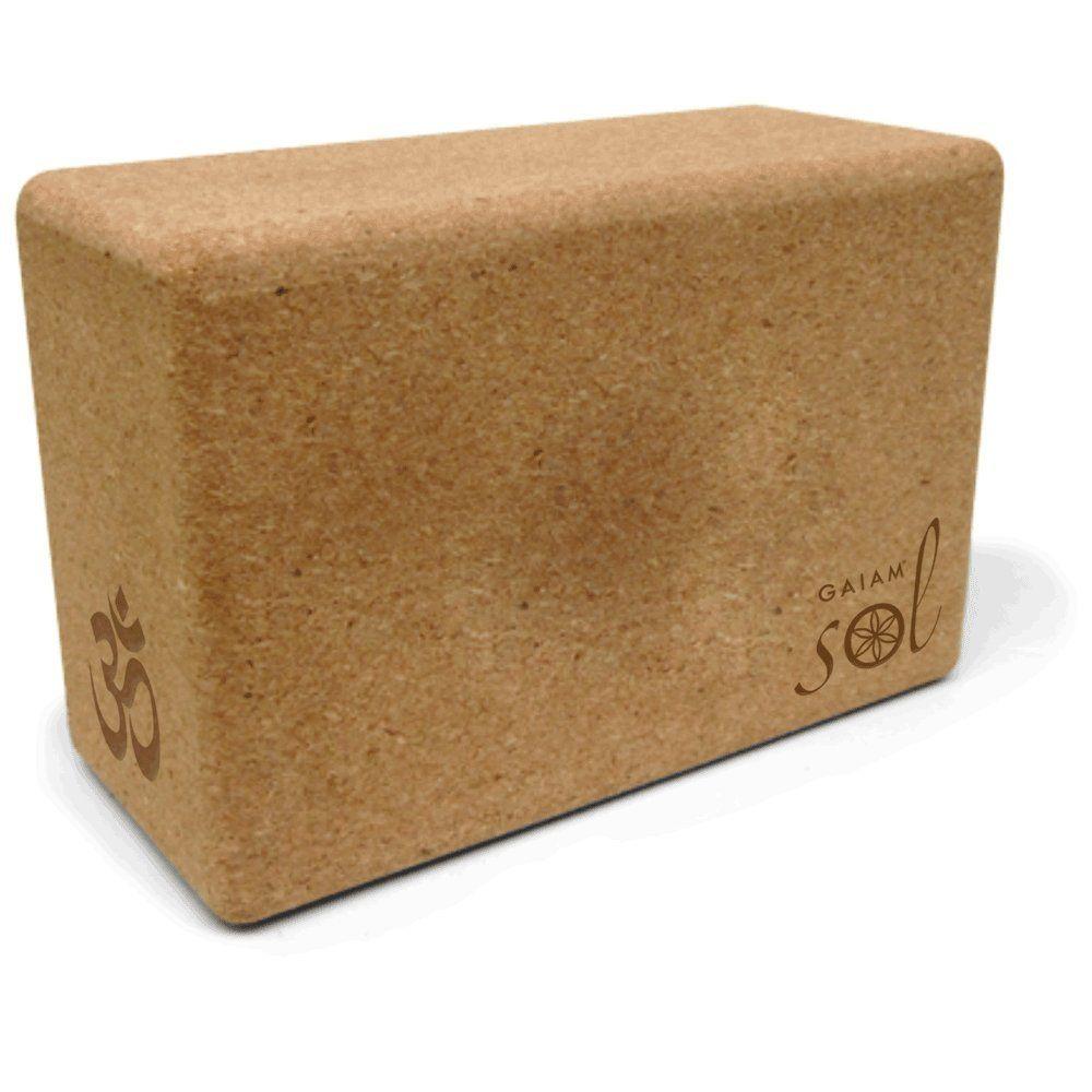 Gaiam Sol Natural Cork Yoga Block (set of 2)