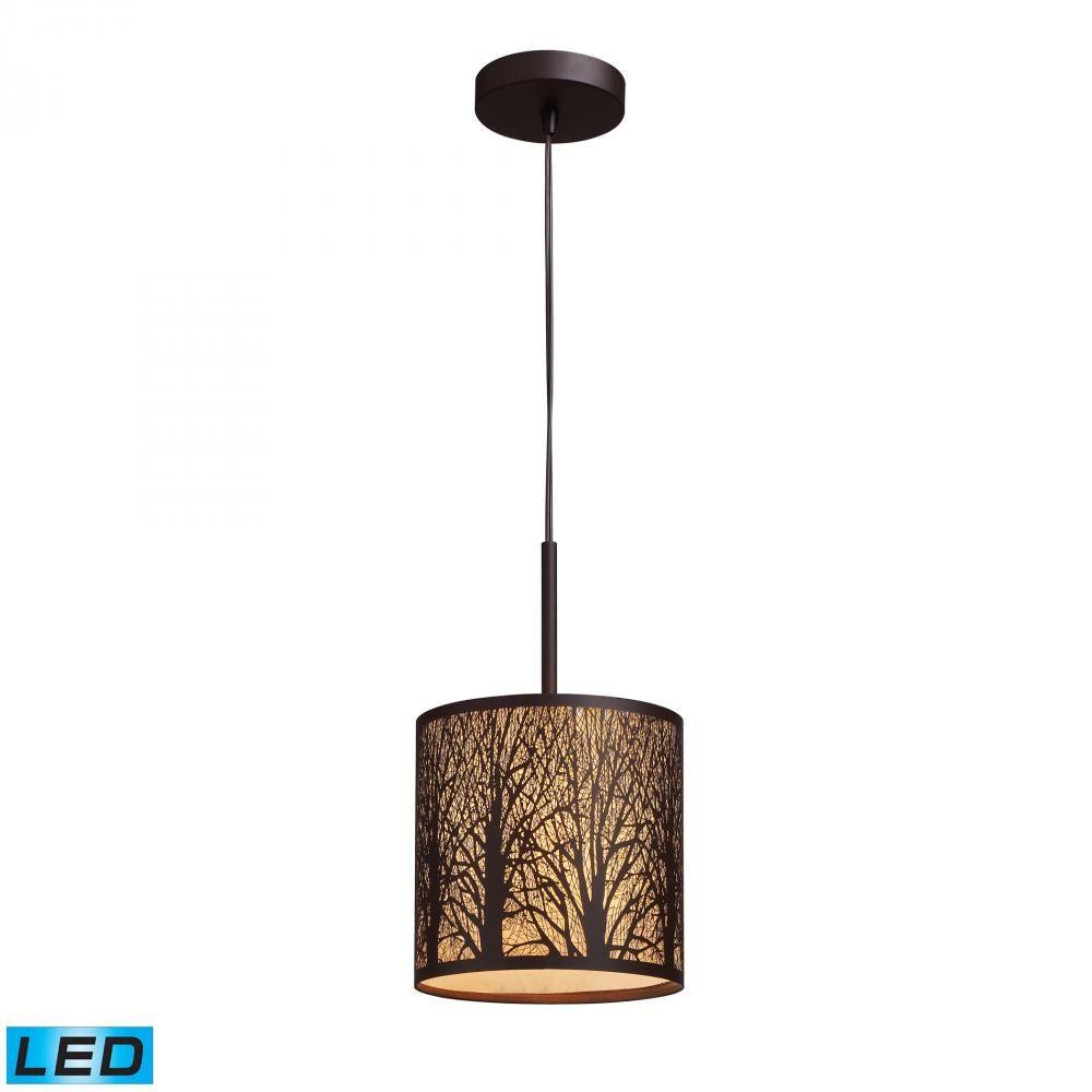Woodland sunrise light led pendant in aged bro kcj the