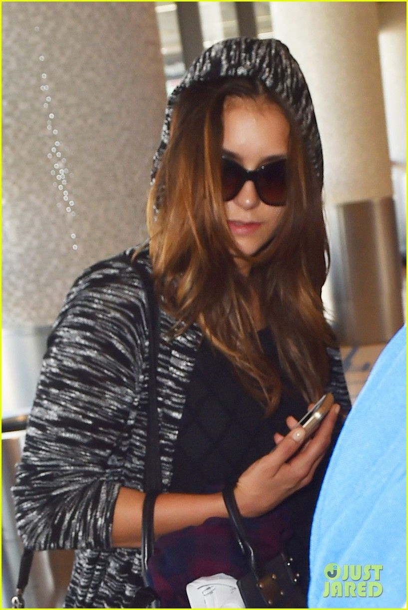 Nina Dobrev Discovers Colbie Caillat's 'Try' & Loves It | nina dobrev airport colbie caillat 01 - Photo