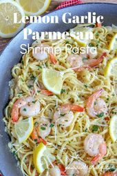 Lemon Garlic Parmesan Shrimp Pasta - #garlic #lemon #parmesan #pasta #shrimp - #new #garlicparmesanshrimp