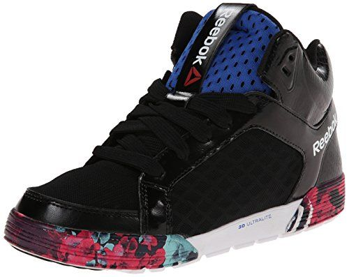 Reebok Women's Dance Urtempo Mid 2.0 Training Shoe, Black/Vital Blue/Crystal  Blue