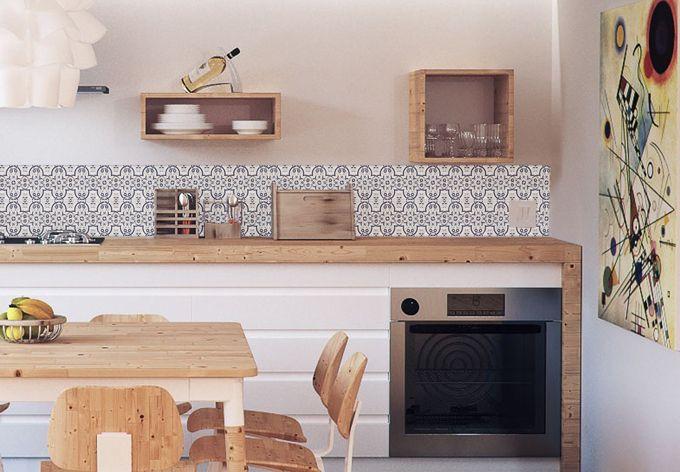 Küchenrückwand - Alu-Dibond - Holland Kacheln 03 Holland and Walls