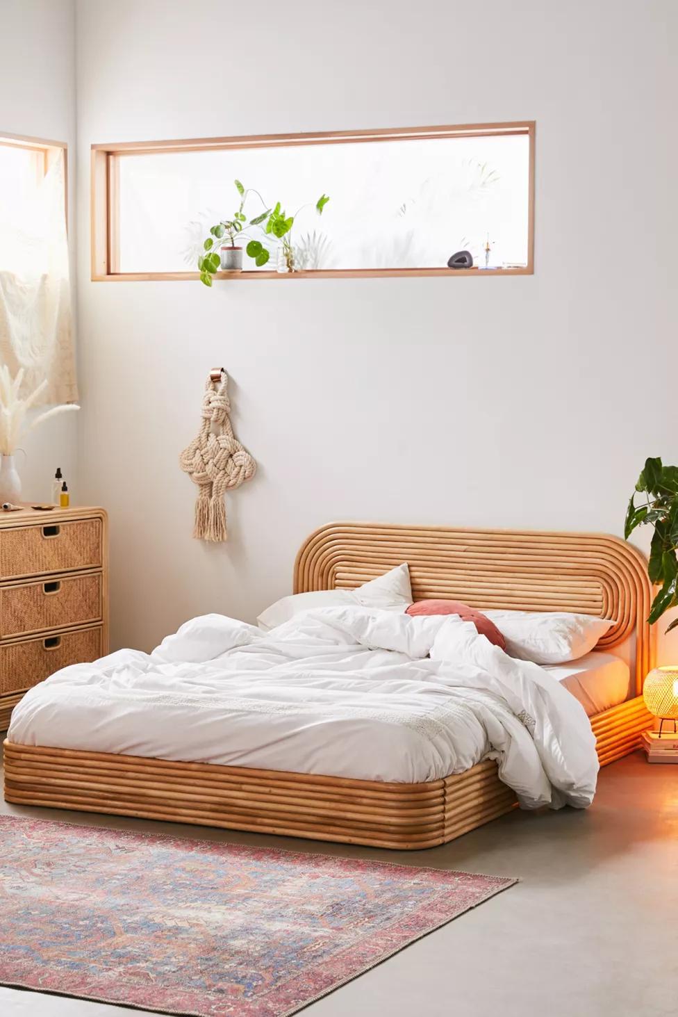 Ria Rattan Bed Rattan Bed Bedroom Interior Home Furniture