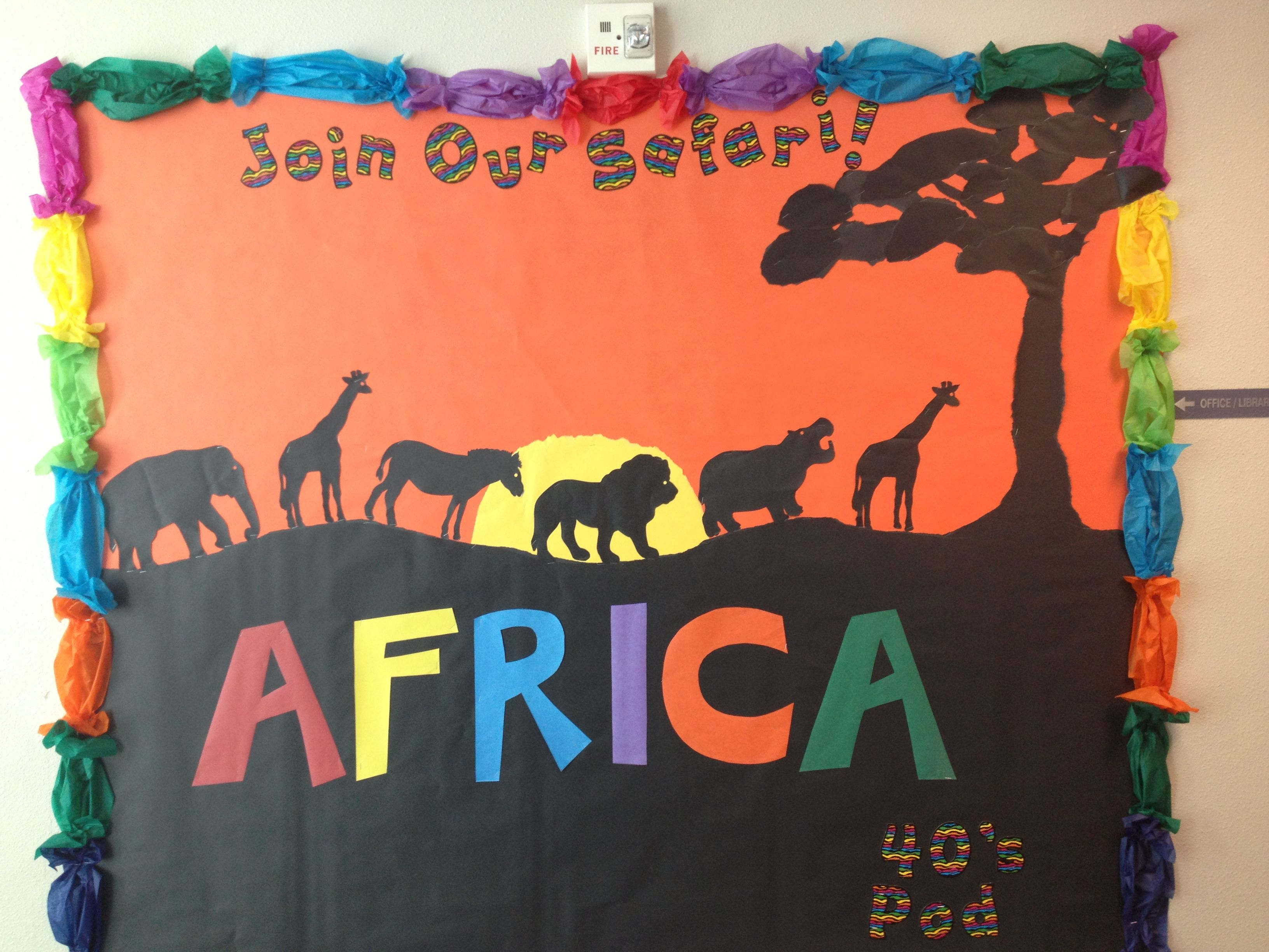Classroom Ideas For Jungle Themes ~ This is a bulletin board i created for our school wide