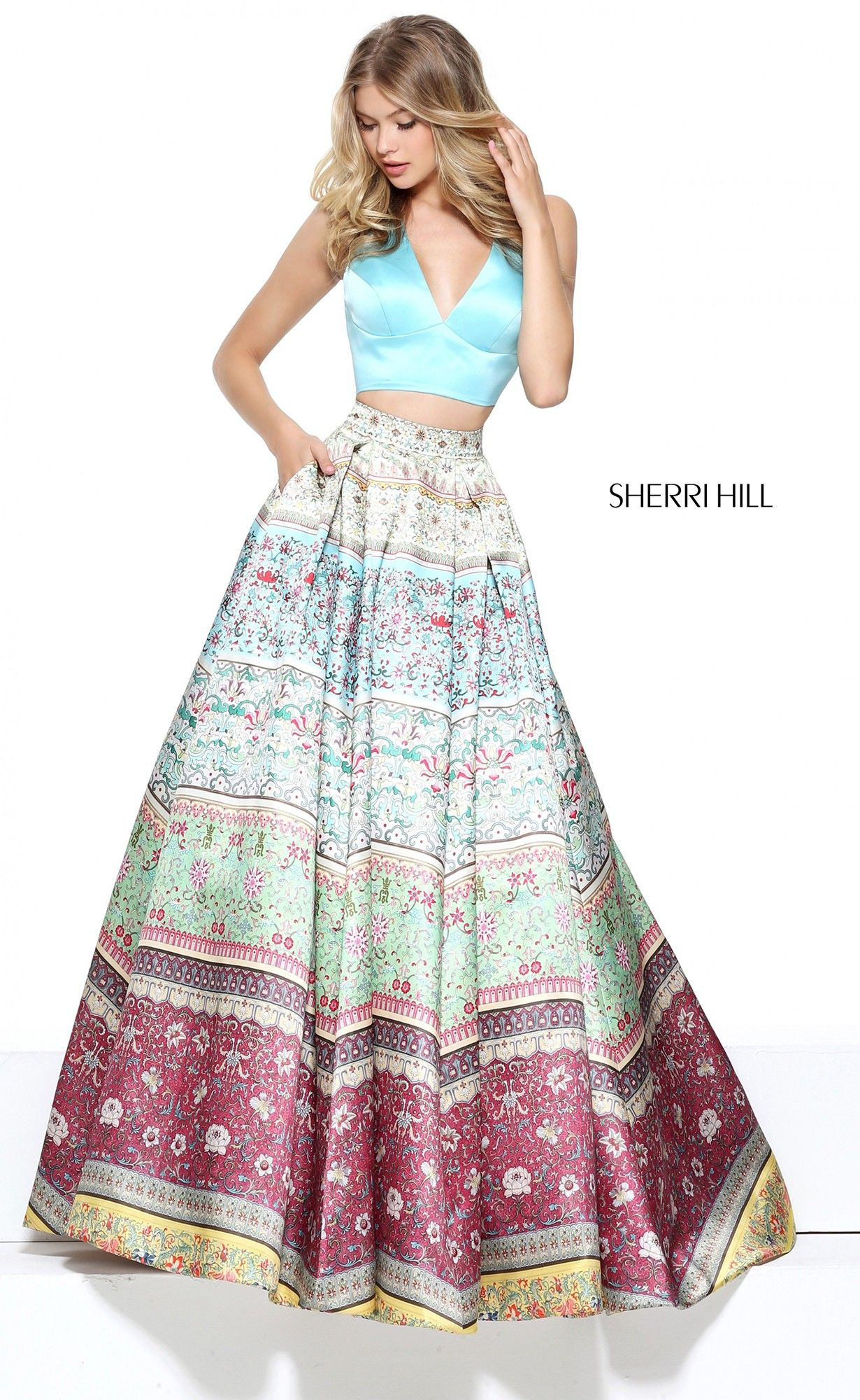 3aec4091d3 Let your inner flower child run free in Sherri Hill 50792. A perfect fit  for your free spirit