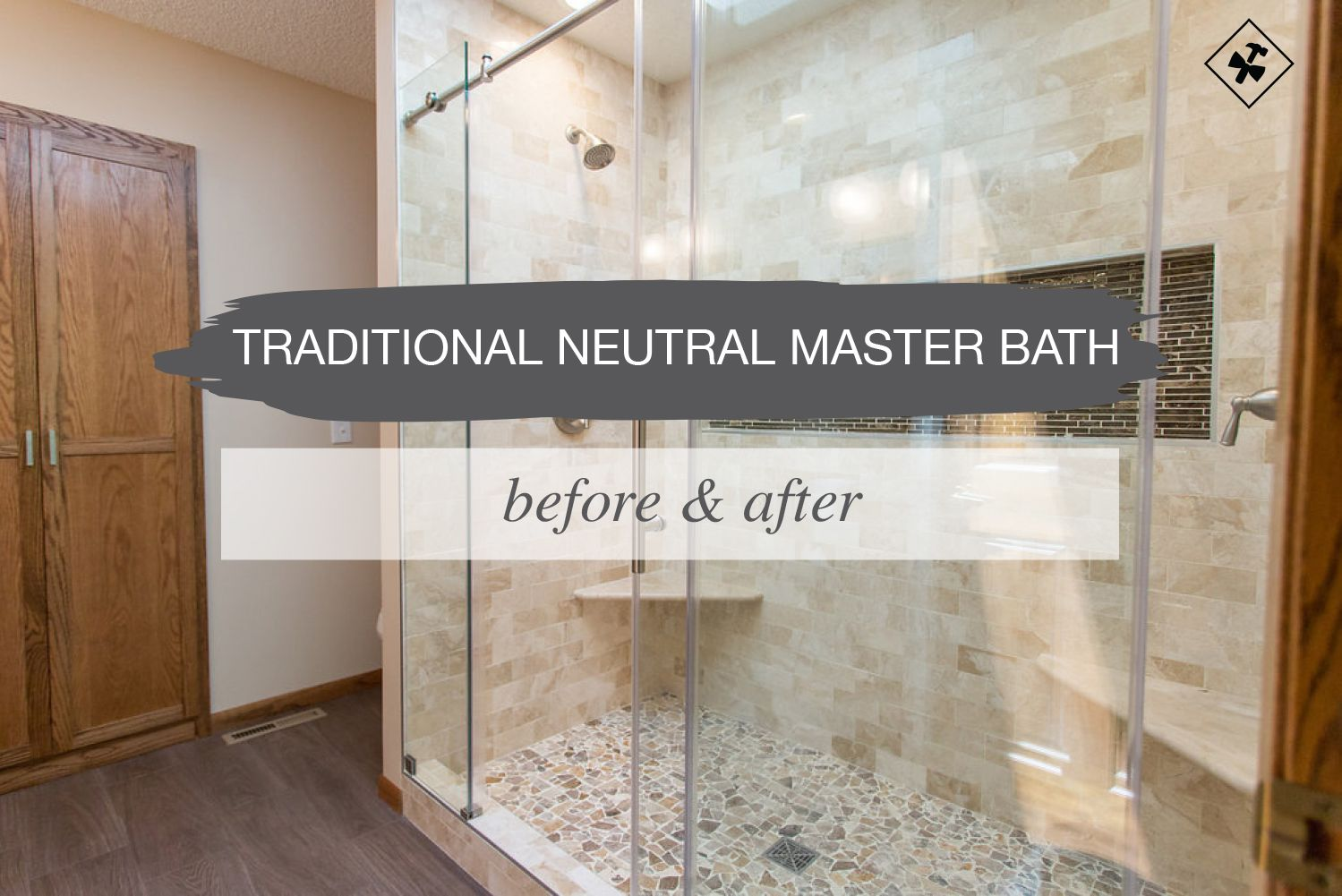 Traditional Neutral Master Bath | Tile wood, Bathroom designs and ...