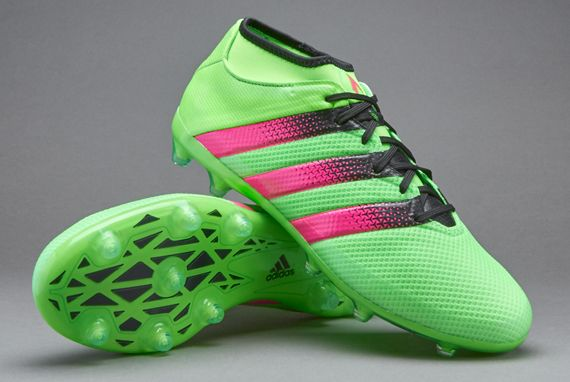 on sale cc970 a6d65 adidas ACE 16.2 Primemesh FG AG - Solar Green Shock Pink Core Black