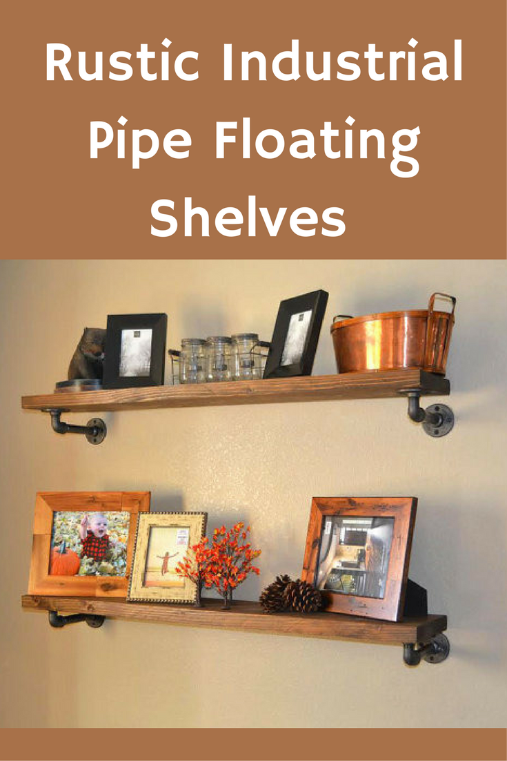 Rustic Industrial Pipe Shelf Floating Shelves Dining Room Shelf Fair Floating Shelves Dining Room Design Inspiration