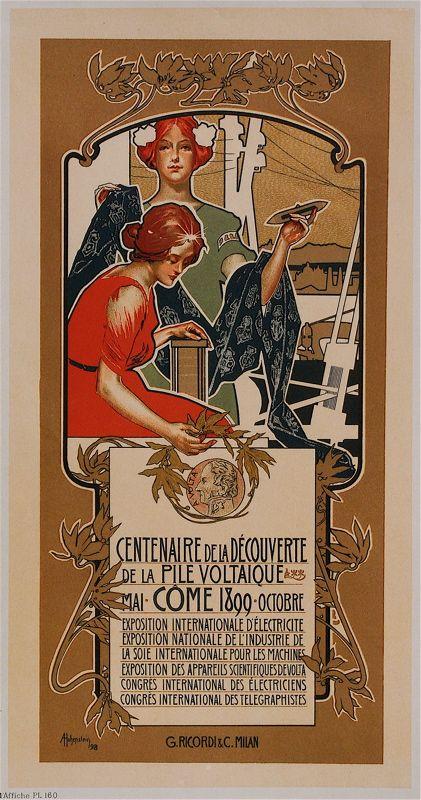 Adolfo Hohenstein (Saint Petersburg, 18 March 1854 – Bonn, 12 April 1928) | www.italialiberty.it/adolfohohenstein