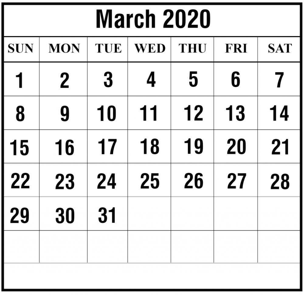 Blank March 2020 Calendar Edit For Your Favorite Day Free Printable Calenda Calendar Printables Free Printable Calendar Templates Printable Calendar Template