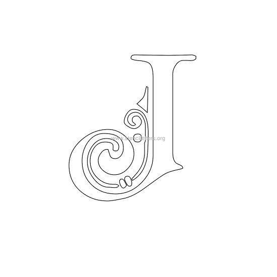 floral wall stencil letter j patterns letter stencils stencils alphabet stencils. Black Bedroom Furniture Sets. Home Design Ideas