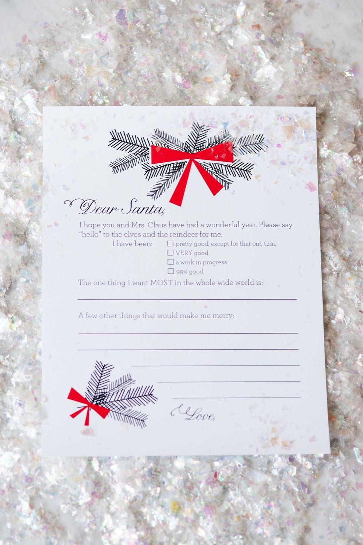 Dear Santa Christmas Wish List Printables | Pinterest | Santa, Santa ...