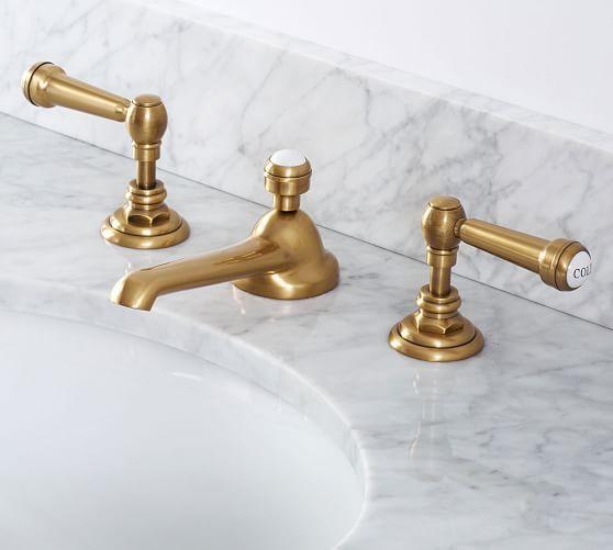 Gannon Single Sink Mini Console Bathroom Faucets Widespread Bathroom Faucet Brass Bathroom Faucets