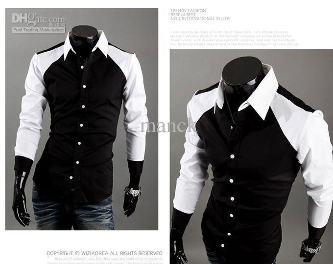 Men Dress Shirts Mixed Colors Casual Jpg