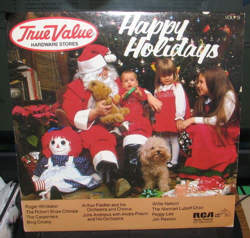 TRUE VALUE HARDWARE  HAPPY HOLIDAYS #19  (RCA 1984) DPL10689 VG VINYL LP #RH12