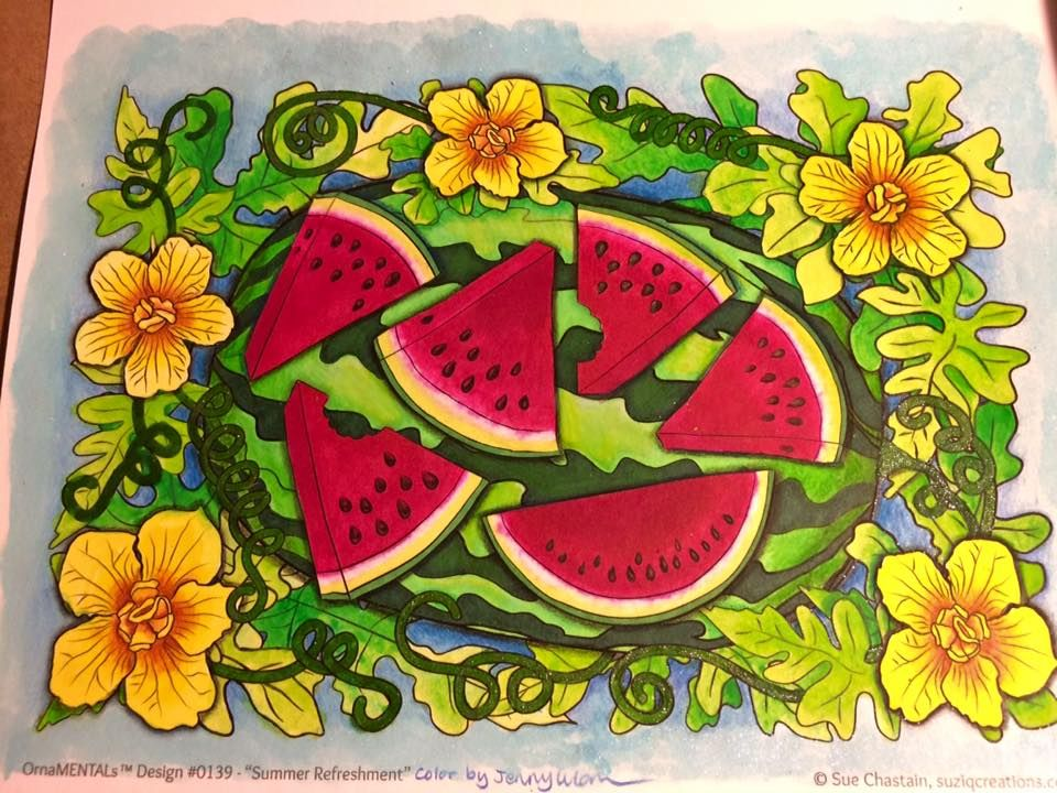 Summer Refreshment Coloring Page Single Coloring pages
