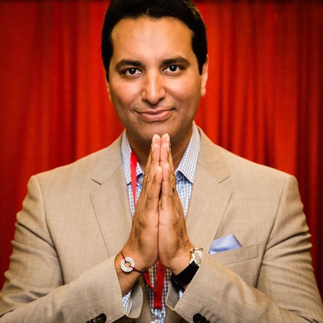 """OM is the first word I learned as a Hindu and it connects us all.  It represents so many things to me - faith, strength, courage."" - Kevin Negandhi, anchor for ESPN's Sports Center"