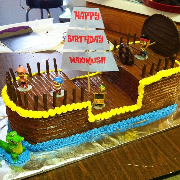 Jake and the Neverland Pirates Birthday Cake Bucky Pirate Ship