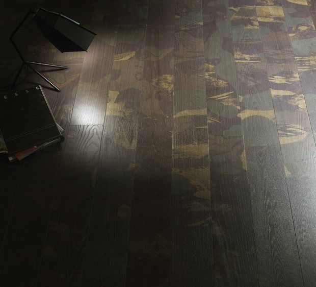 Unique Wood Flooring In Shadows Or Camouflage