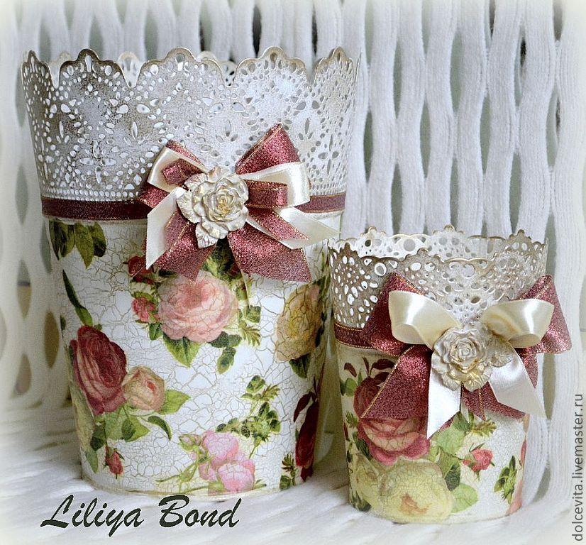 полевые декор цветочных горшков своими руками фото в винтажном стиле двух шагах